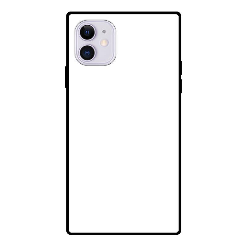 オリジナルiPhoneスクエア型強化ガラスケース