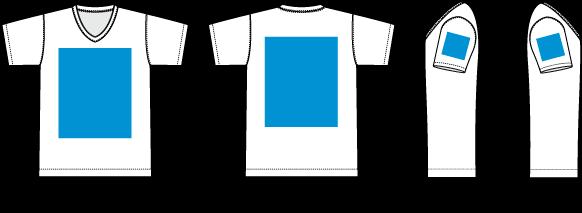 Tシャツの印刷範囲