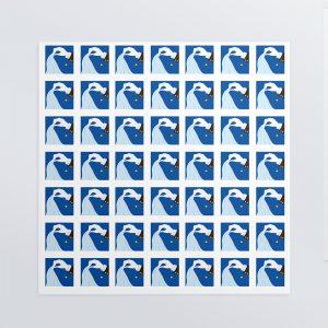 選べるホワイトフレークシール(正方形49枚)160×160mm