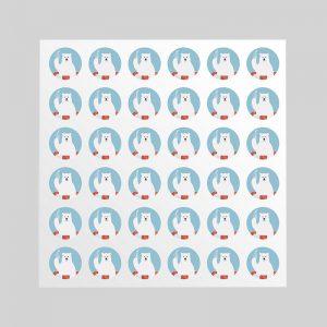 選べるホワイトフレークシール(円型36枚)100×100mm