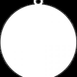 丸型アクリルキーホルダー(10cm)