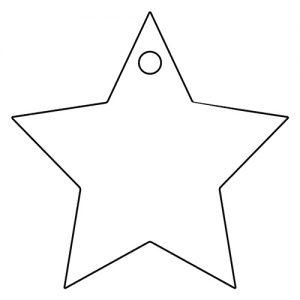 星形アクリルキーホルダー(4cm)