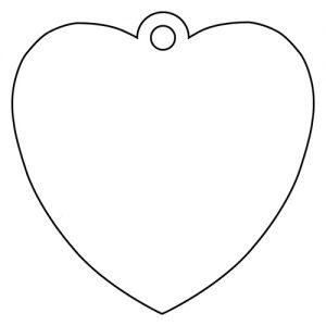 ハート形アクリルキーホルダー(4cm)