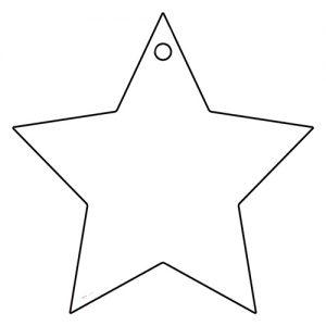 星形アクリルキーホルダー(6cm)
