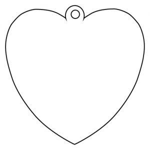 ハート形アクリルキーホルダー(10cm)