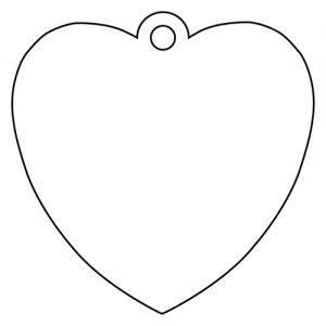 ハート形アクリルキーホルダー(6cm)