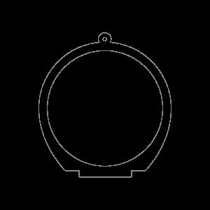 100×100mmアクリルキースタンド(円形)